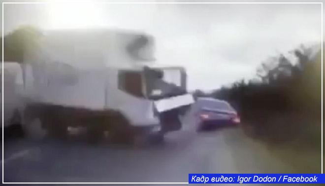 Машина с президентом Молдавии попала в аварию