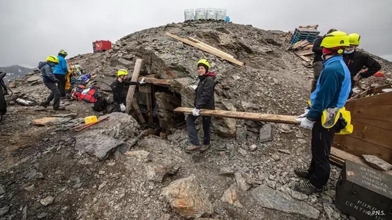 В Альпах оттаяла казарма времён Первой мировой войны