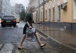 Москву накрыл суперливень и ураган